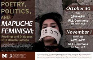 Poetry, Politics and Mapuche Feminism: Readings and Dialogues with Daniela Catrileo.