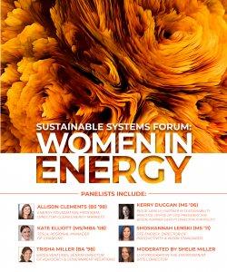 Women in Energy panel of alumnae