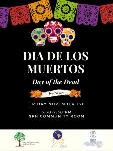 Dia De Los Muertos Event Flyer