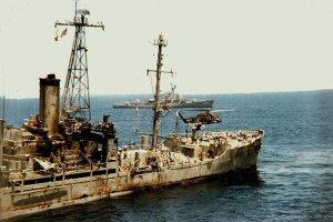 Damage to USS Liberty
