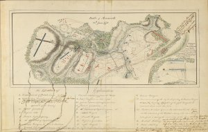 Battle of Monmouth, 28th June 1778, with notations by Henry Clinton.