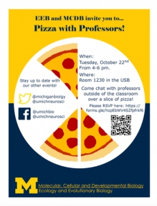 Join us for Pizza with Professors!