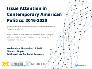 Issue Attention in Contemporary American Politics: 2016-2020