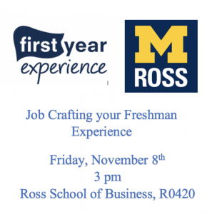 Job Crafting your Freshman Experience Flyer
