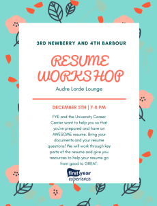 Resume Lab Flyer