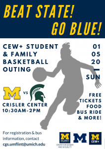 CEW+ Basketball Outing Flyer