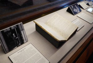 Clements Collecting History Exhibit case