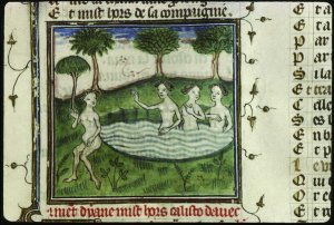 Diane chassent Callisto, Ovide moralisé 1380-1395 Lyon, BM, 0742 (0648), f. 030