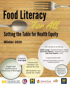 Food Literacy for All - Winter 2020
