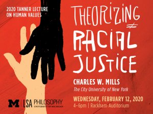 2020 Tanner Lecture - Theorizing Racial Justice - Charles W. Mills