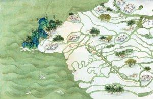 """""""A Map of the Lower River,"""" Zheng Penghe"""