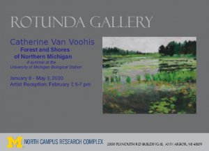 "painting by Catherine VanVoorhis Titled ""Northern Pond"", 2019"