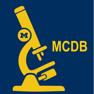 MCDB initials on blue background