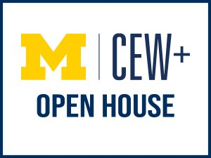 CEW+ logo with the words Open House under it