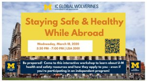 Staying Safe & Healthy While Abroad