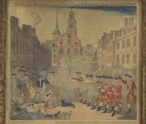 Boston Massacre Engraving by Paul Revere, 1770