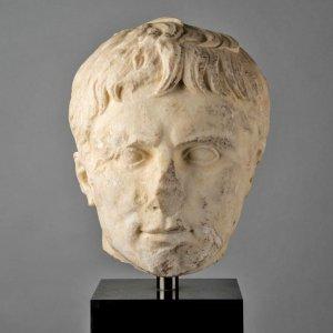 head of Roman emperor