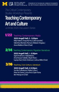Schedule of Sessions for Teaching Contemporary Art & Culture