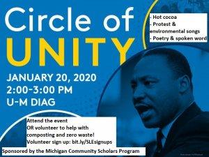 Circle of Unity Volunteer flyer