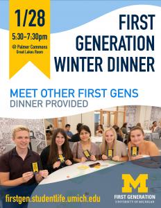 First Gen Winter Dinner Flyer