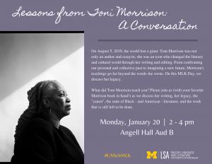 Toni Morrison MLK event 2020