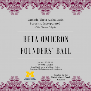 Join us at Beta Omicron Founders' Ball! Celebrating 20 years of being the Epitome of Endurance. Leaders and Best, the first Lambda Ladies in the Midwest!