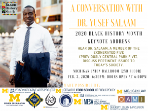 Dr. Yusef Salaam of the Exonerated Five, formally known as the Central Park Five