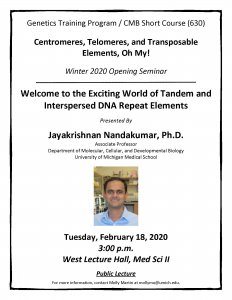 Nandakumar GTP / CMB Short Course Flyer