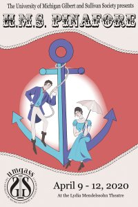 H.M.S. Pinafore presented by University of Michigan Gilbert and Sullivan Society
