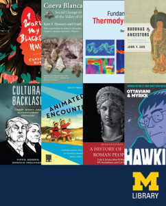 Book cover collage from U-M faculty publications