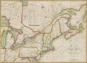 Map of the seat of war in North America / J. Melish, del.
