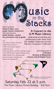 Music in the Stacks event details