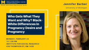 Jennifer Barber talk poster
