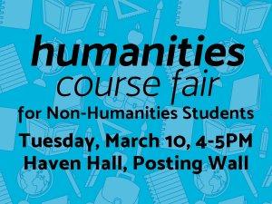 Humanities Course Fair