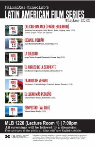 Latin American Film Series Schedule
