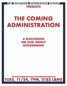 The Coming Administration