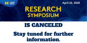 UROP Symposium Canceled