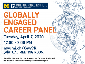 II Virtual Conversation-Globally Engaged Career Panel banner