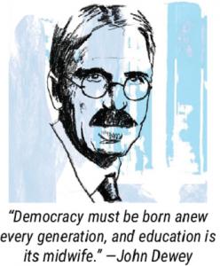 Image of John Dewey with quote