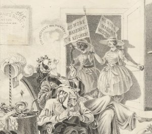 """""""Bloomerism in Practice: the morning after the victory"""" (detail), 1851"""