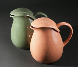American Modern water pitchers, 1939-59 by Russel Wright, photograph courtesy of Margaret Carney.