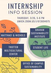 Internship Info Session Flyer