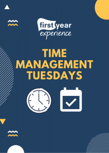 Time Management Tuesdays Flyer