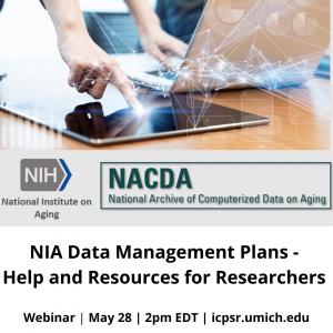Announcement of NIA data management plans webinar