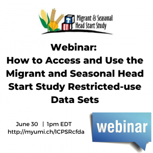 Migrant and Seasonal Head Start Study webinar announcement