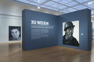 Installation views, Xu Weixin: Monumental Portraits, University of Michigan Museum of Art