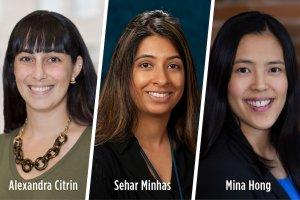 panelists Alexandra Citrin, Sehar Minhas, Mina Hong