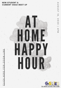 At Home Happy Hour Flyer with GSBES logo