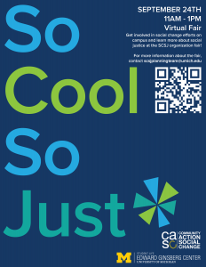 So Cool So Just Organization Fair Flyer