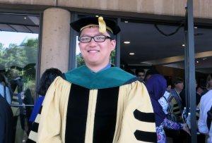Dr. Wang at Hopkins graduation